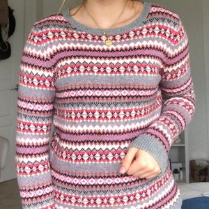 Talbots colorful sweater